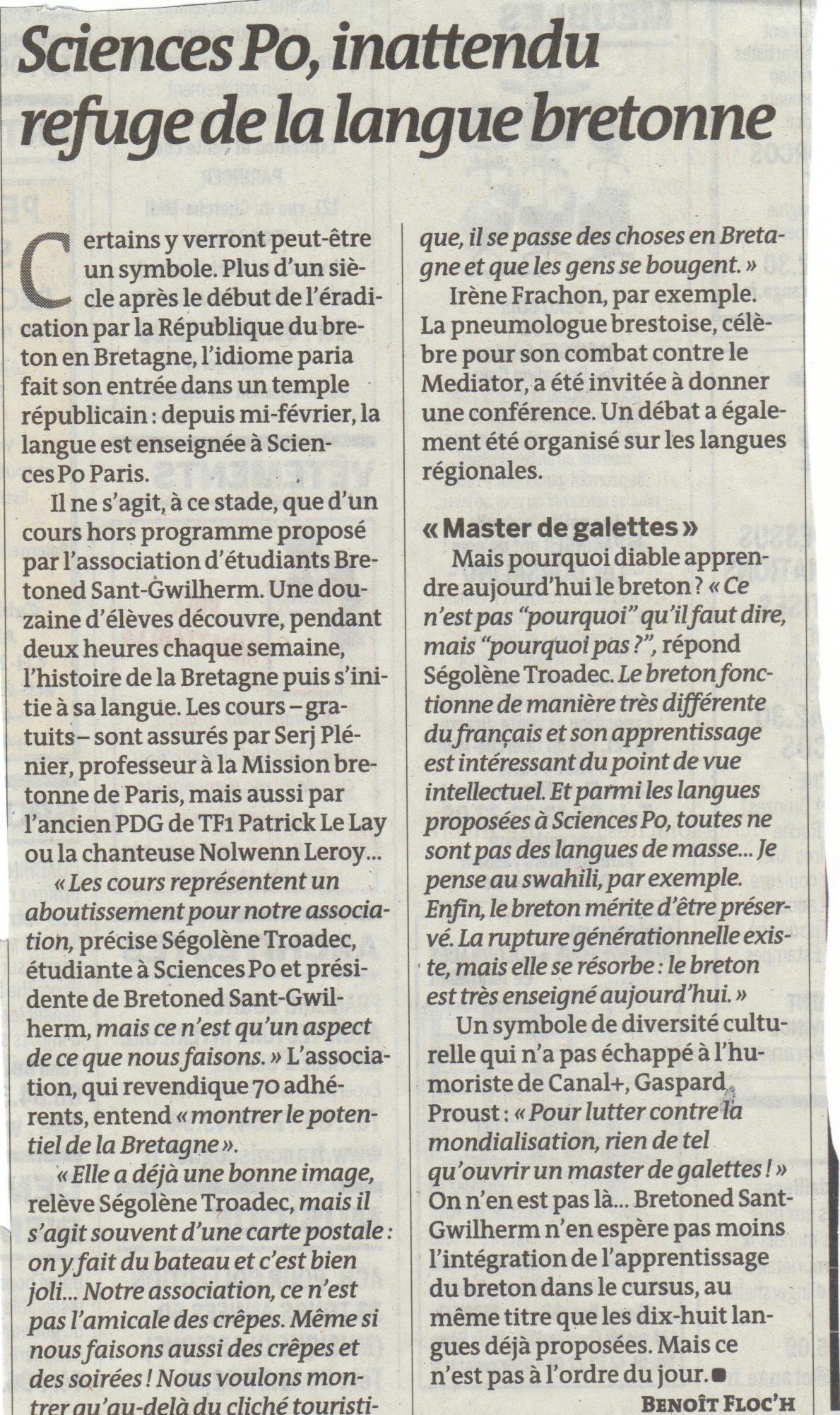 Breton sciences po