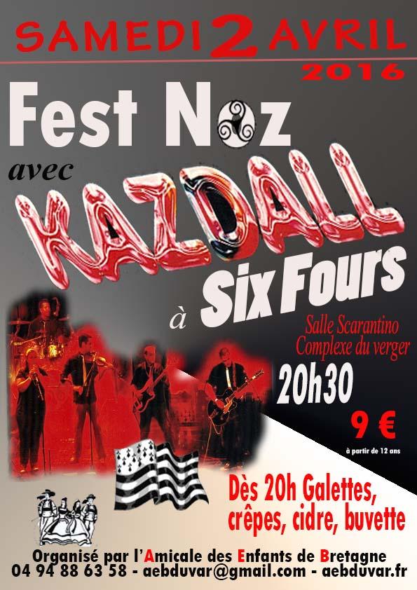 Fest-Noz avec Kazdall à Six-Fours le 2 Avril 2016