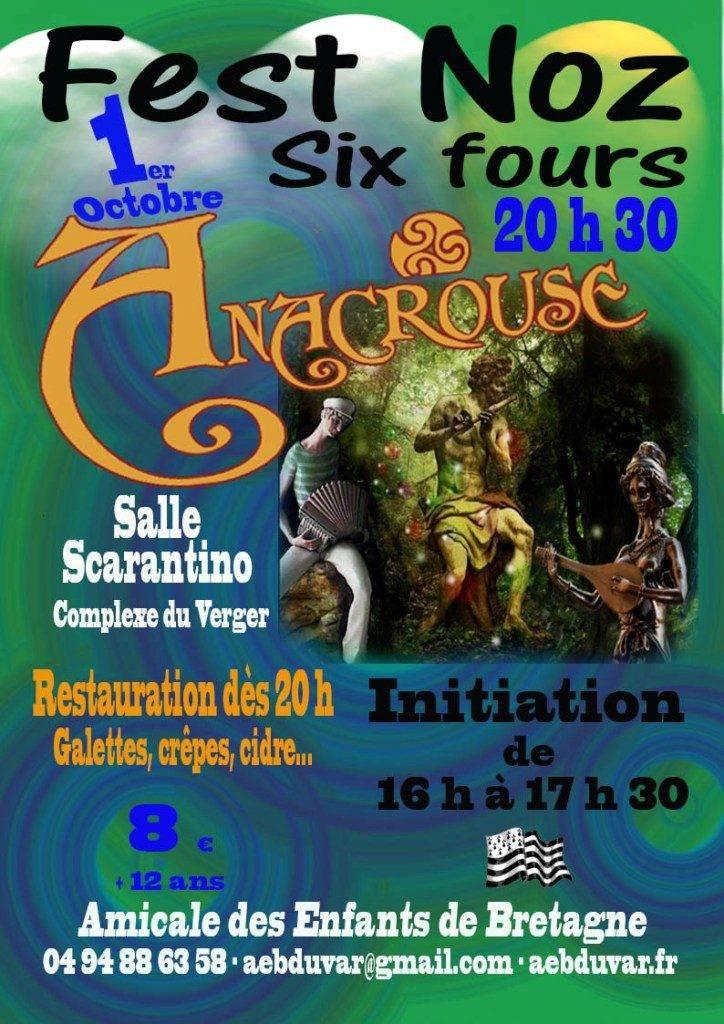 Fest-Noz avec Anacrouse à Six-Fours le 1er Octobre 2016