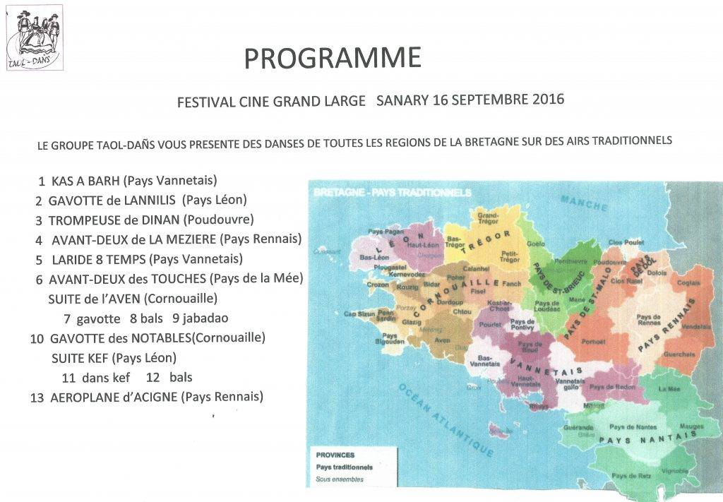 L'AEB au festival du cinéma à Sanary le 16 Septembre